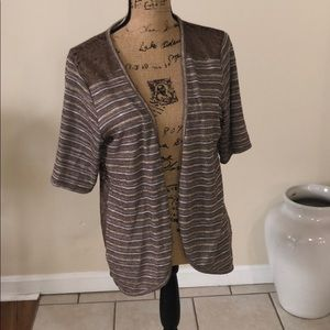 Maurice's brown/gold cardigan size xxl